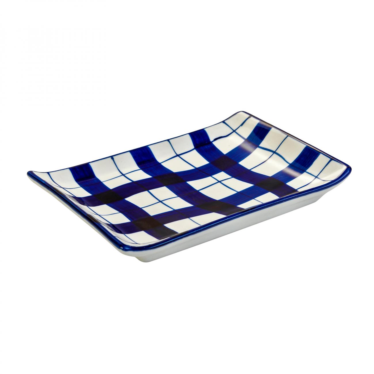 Купить Мини-блюдо в морском стиле в клетку в интернет магазине дизайнерской мебели и аксессуаров для дома и дачи