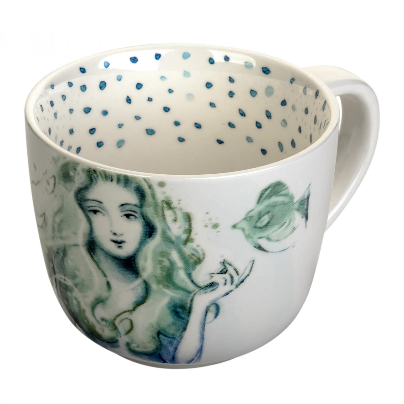 Купить Чашка в морском стиле Русалка в интернет магазине дизайнерской мебели и аксессуаров для дома и дачи