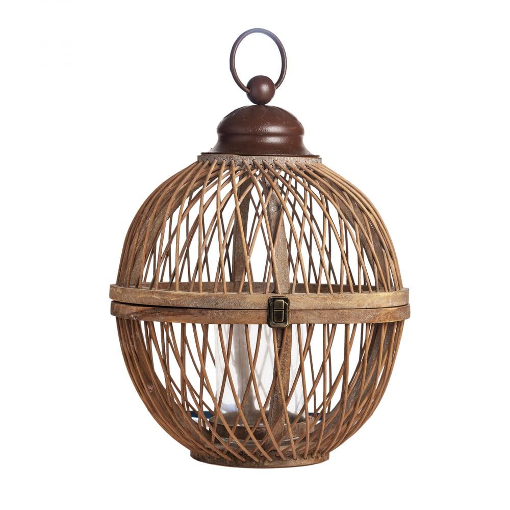 Фонарь-подсвечник Bamboo в винтажном стиле  Большой DG-HOME