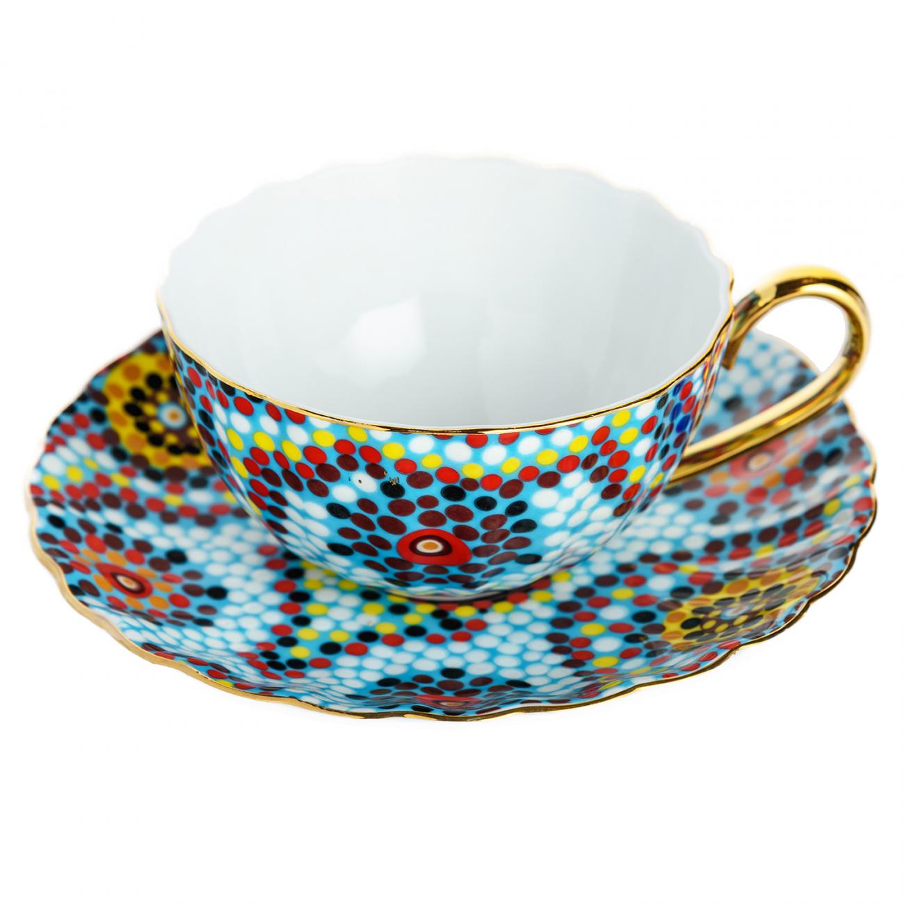 Купить Чайная пара Мозаика Голубая в интернет магазине дизайнерской мебели и аксессуаров для дома и дачи