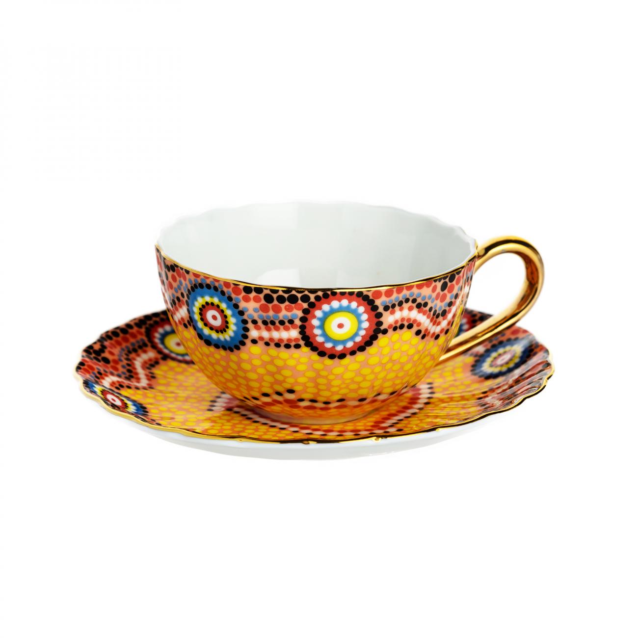 Купить Чайная пара Мозаика Оранжевая в интернет магазине дизайнерской мебели и аксессуаров для дома и дачи