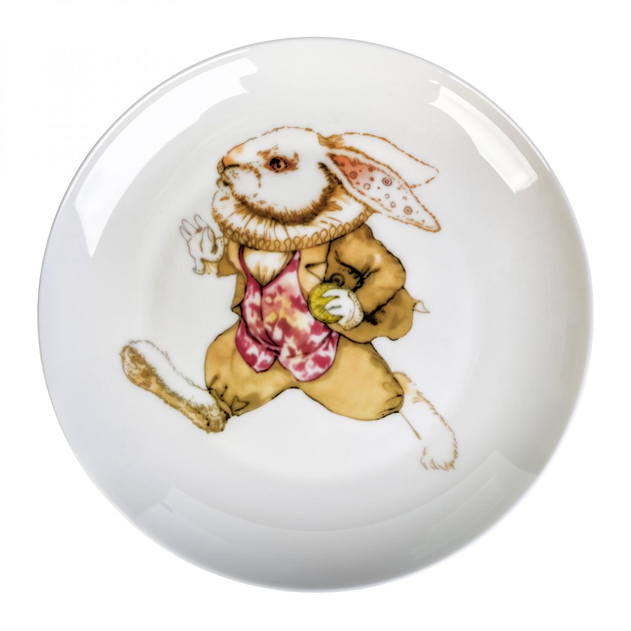 Купить Тарелка Сумасшедший Кролик опаздывает в интернет магазине дизайнерской мебели и аксессуаров для дома и дачи