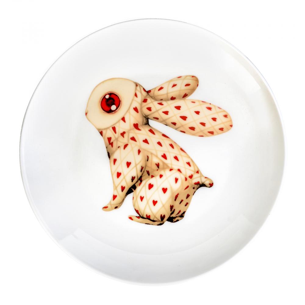 Фото Тарелка Сумасшедший Кролик карточный. Купить с доставкой