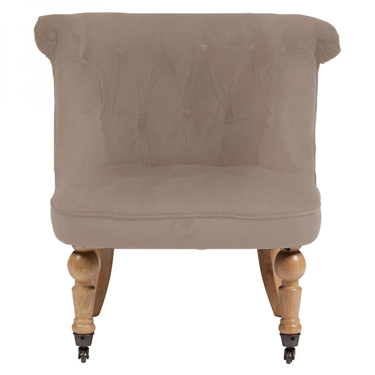 Купить Кресло Amelie French Country Chair Бежевый Велюр в интернет магазине дизайнерской мебели и аксессуаров для дома и дачи