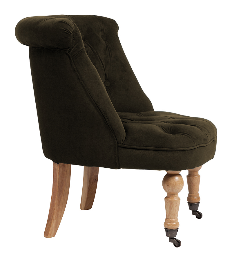 Кресло Amelie French Country Chair Серо-Коричневый Велюр М