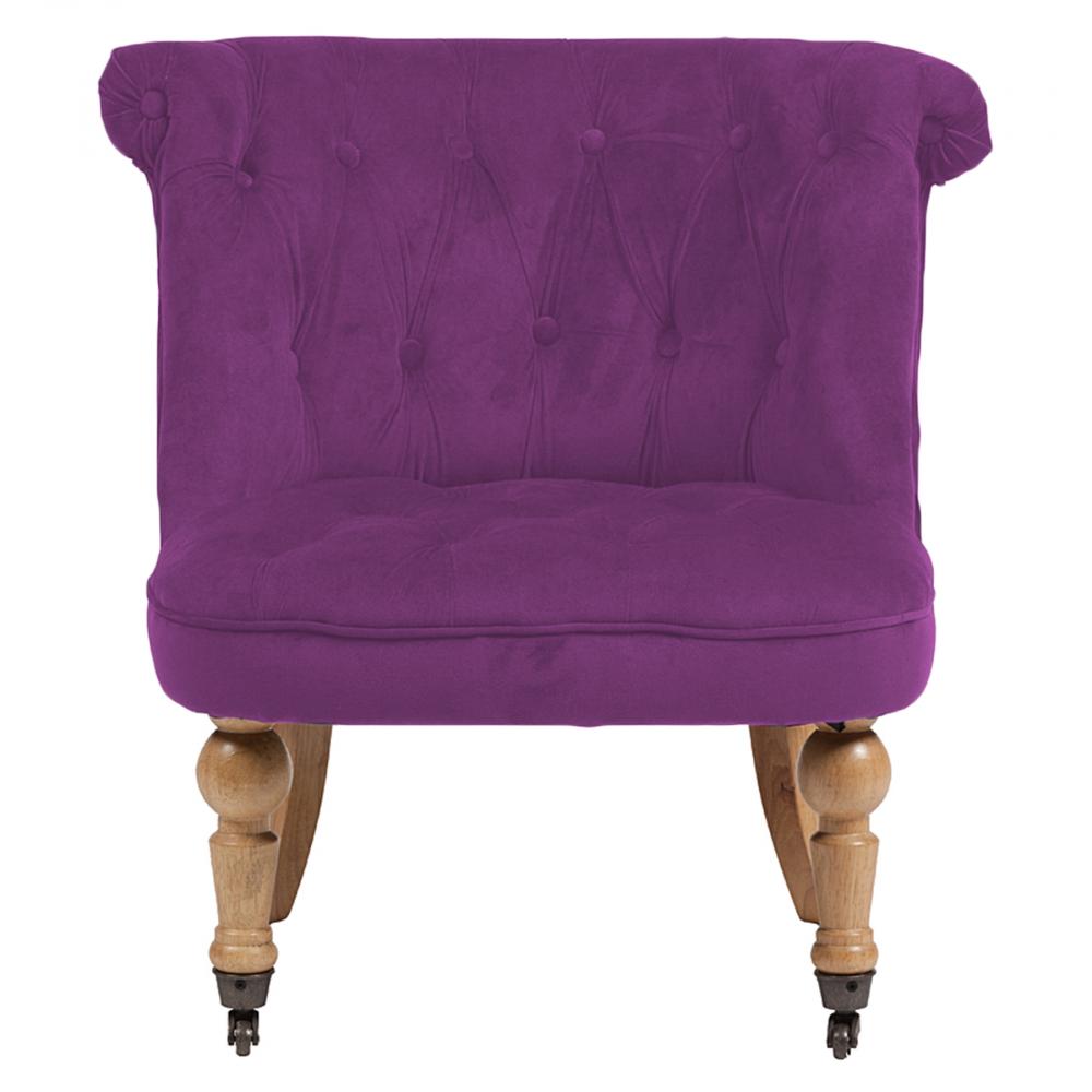 Кресло Amelie French Country Chair Фиолетовый Велюр