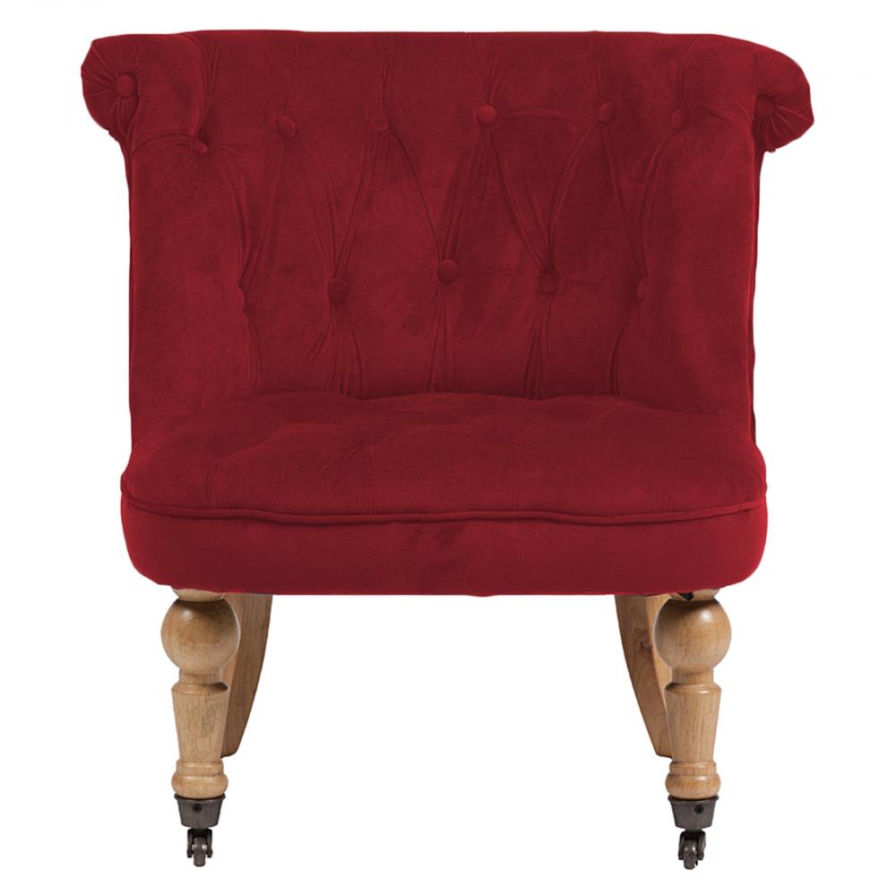 Фото Кресло Amelie French Country Chair Красный Велюр. Купить с доставкой