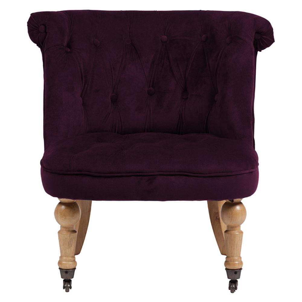 Фото Кресло Amelie French Country Chair Лиловый Велюр. Купить с доставкой