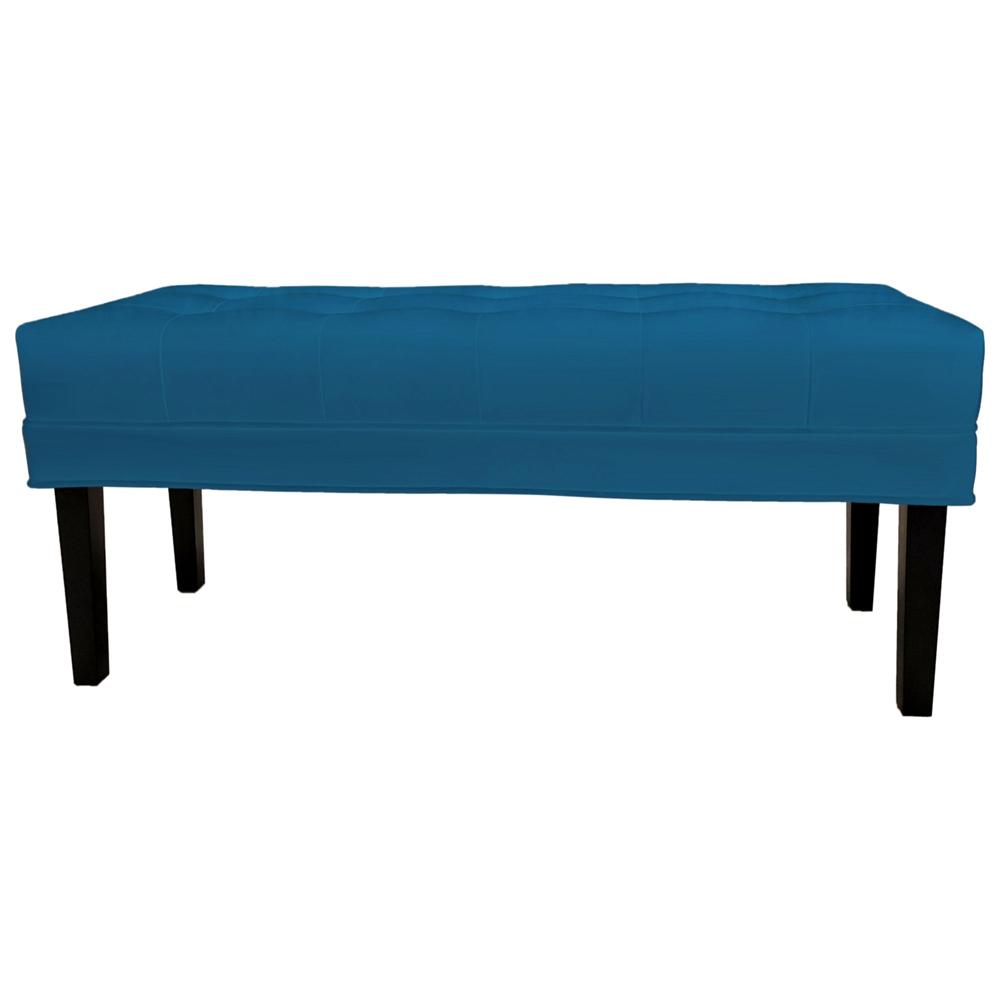 Банкетка Mellifluous dark Голубой Велюр