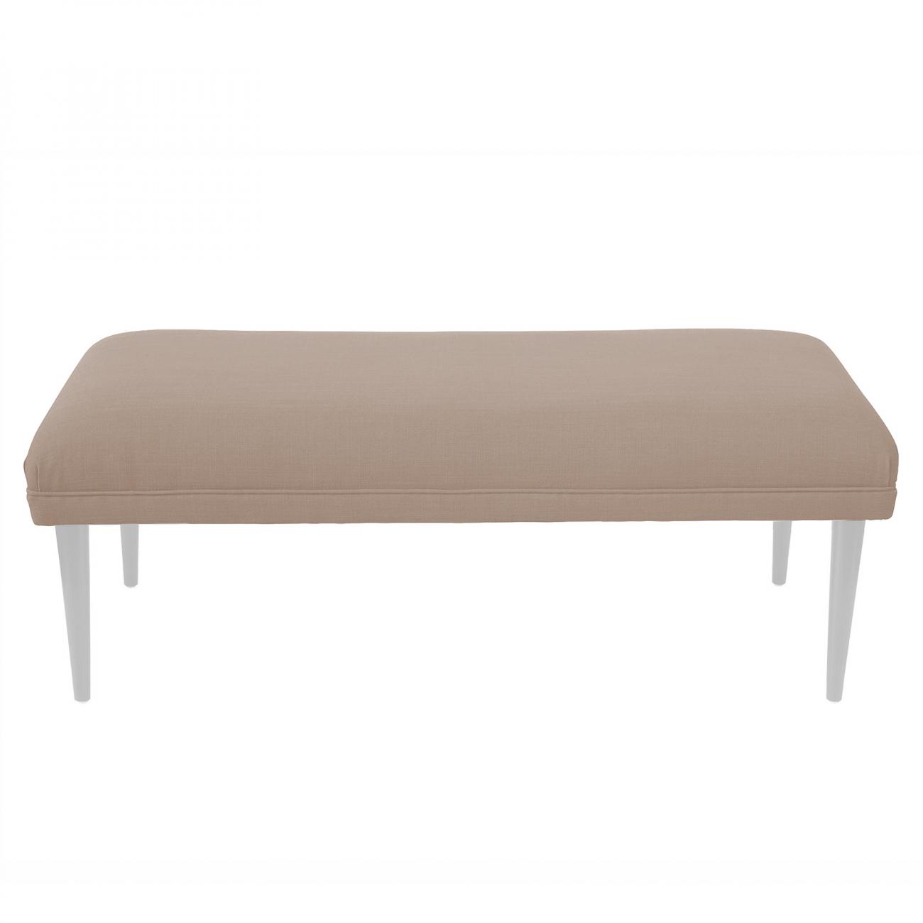 Купить Банкетка Epoch white Бежевый Велюр в интернет магазине дизайнерской мебели и аксессуаров для дома и дачи