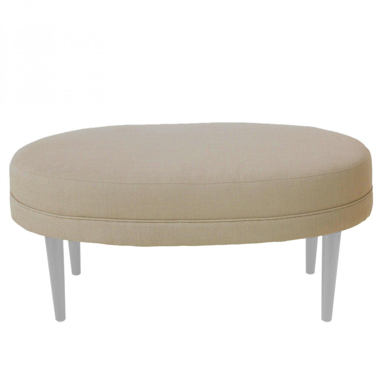 Купить Банкетка Sonorous white Бежевый Велюр в интернет магазине дизайнерской мебели и аксессуаров для дома и дачи