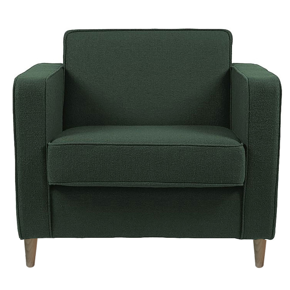 Фото Кресло George Серо-Зелёный Микровелюр. Купить с доставкой