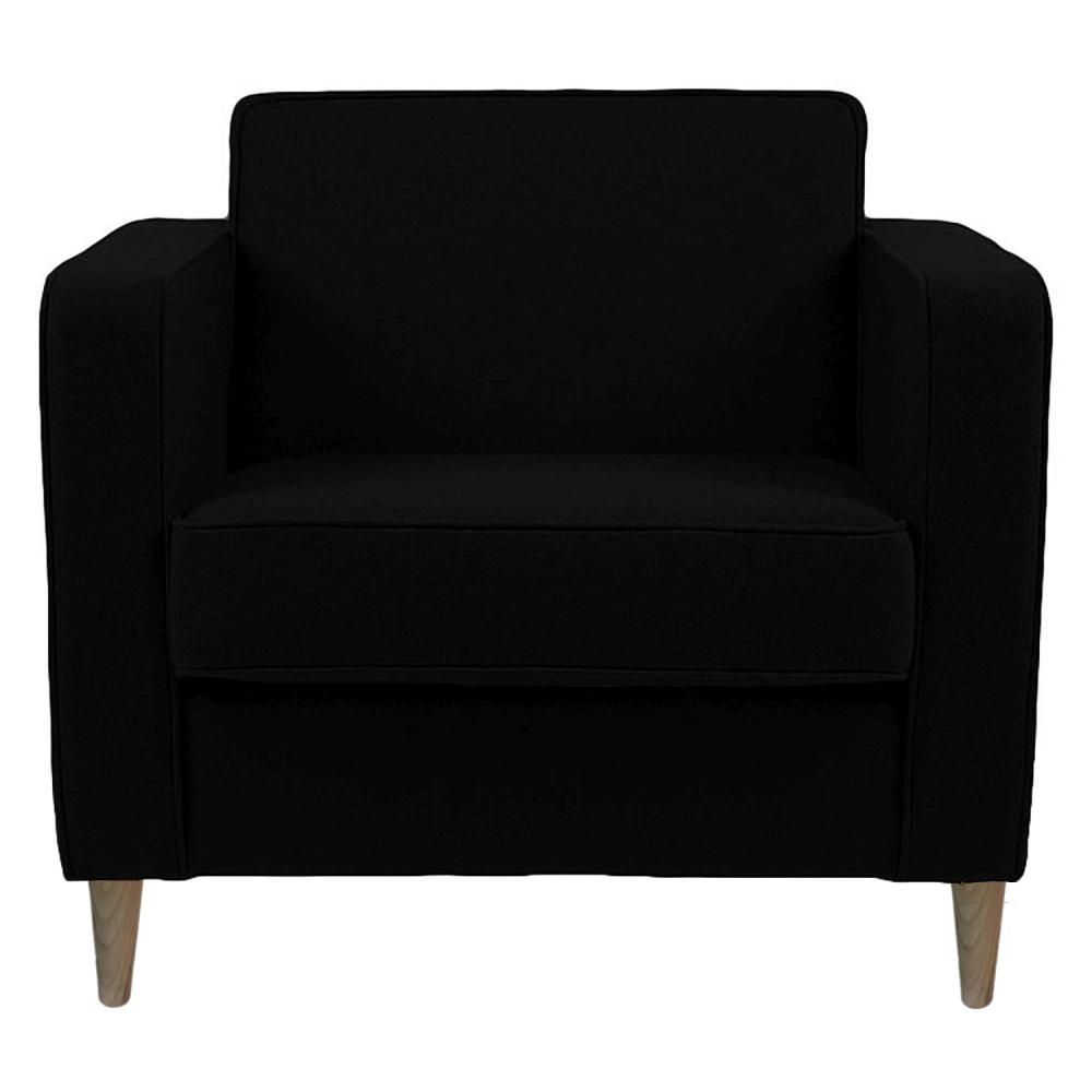 Фото Кресло George Чёрная Шерсть. Купить с доставкой