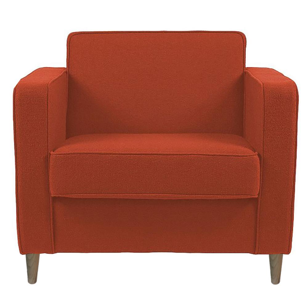 Фото Кресло George Оранжевая Шерсть. Купить с доставкой