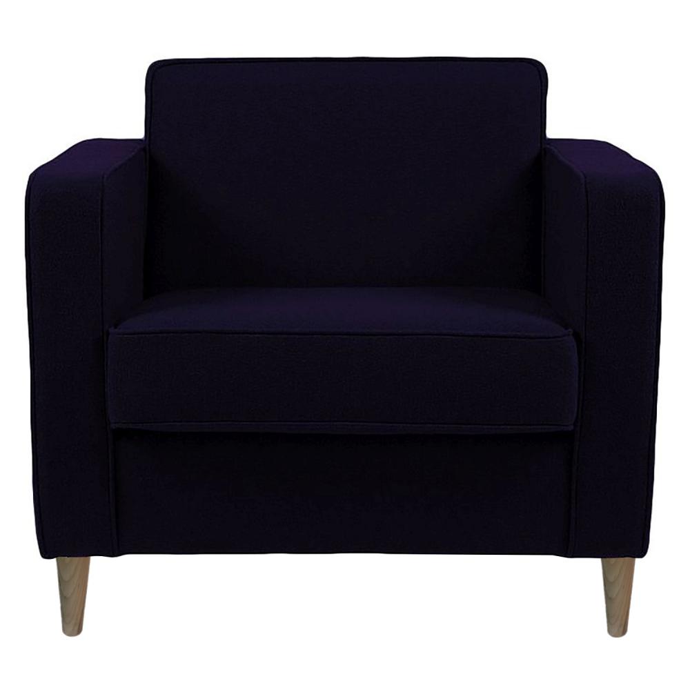 Фото Кресло George Фиолетовая Шерсть. Купить с доставкой