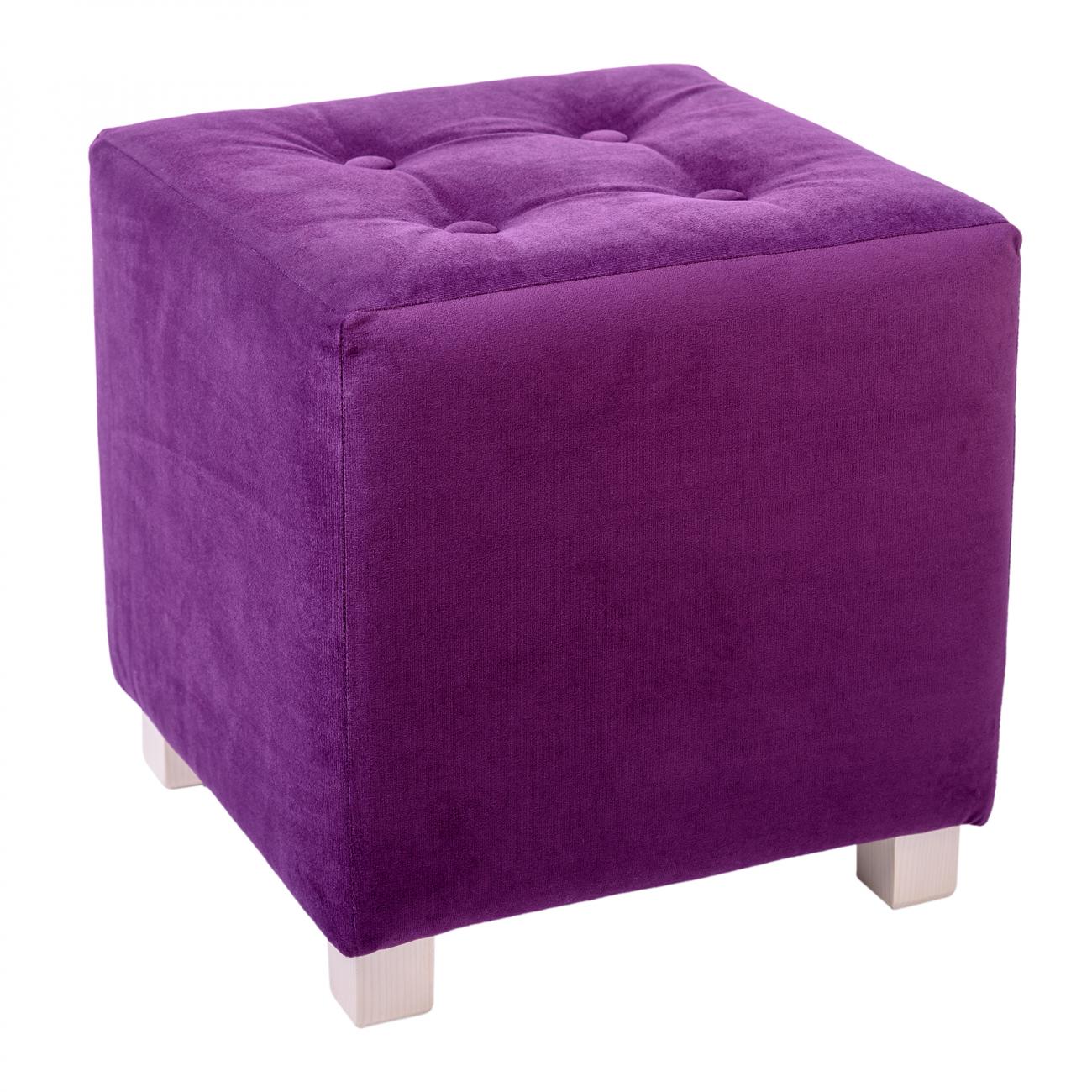 Купить Пуф WOODEN Квадратный Лиловый в интернет магазине дизайнерской мебели и аксессуаров для дома и дачи