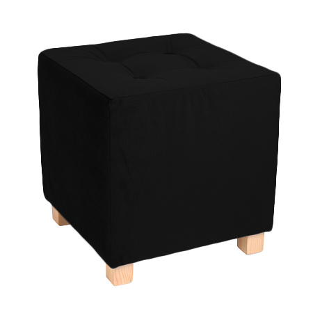 Пуф WOODEN Квадратный Чёрный пуф wooden круглый белый