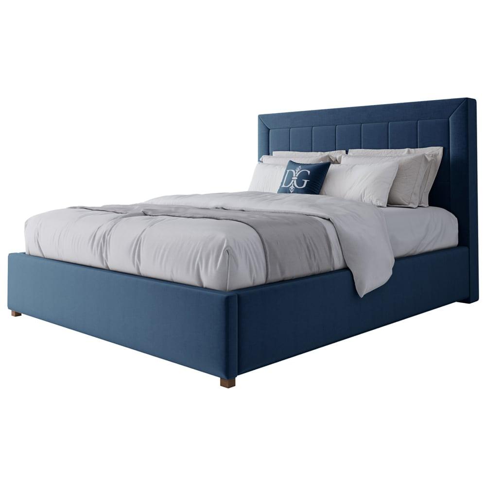 Фото Кровать Elizabeth 160х200 Велюр Морская волна. Купить с доставкой