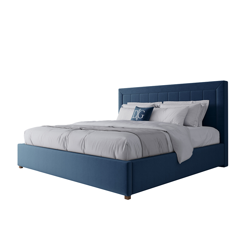 Фото Кровать Elizabeth 180х200 Велюр Морская волна. Купить с доставкой