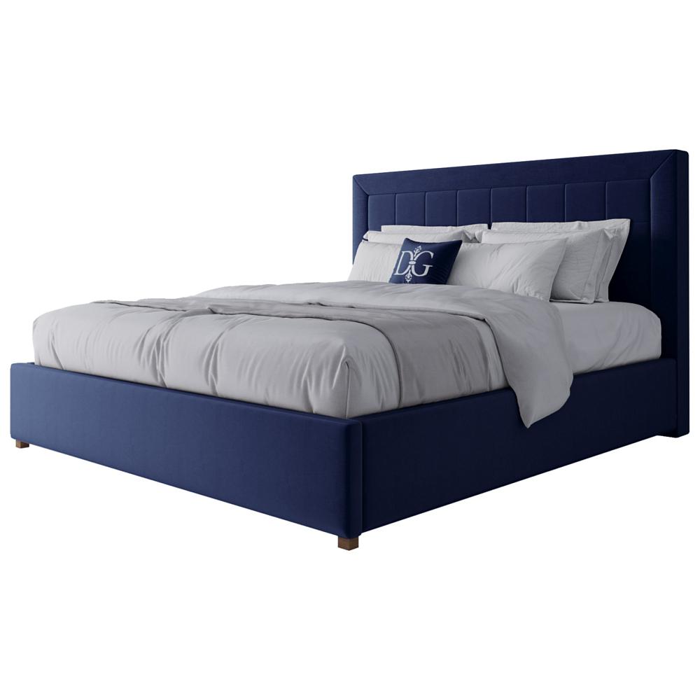 Кровать Elizabeth 180х200 Велюр Синий