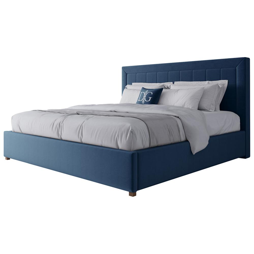 Фото Кровать Elizabeth 200х200 Велюр Морская волна. Купить с доставкой