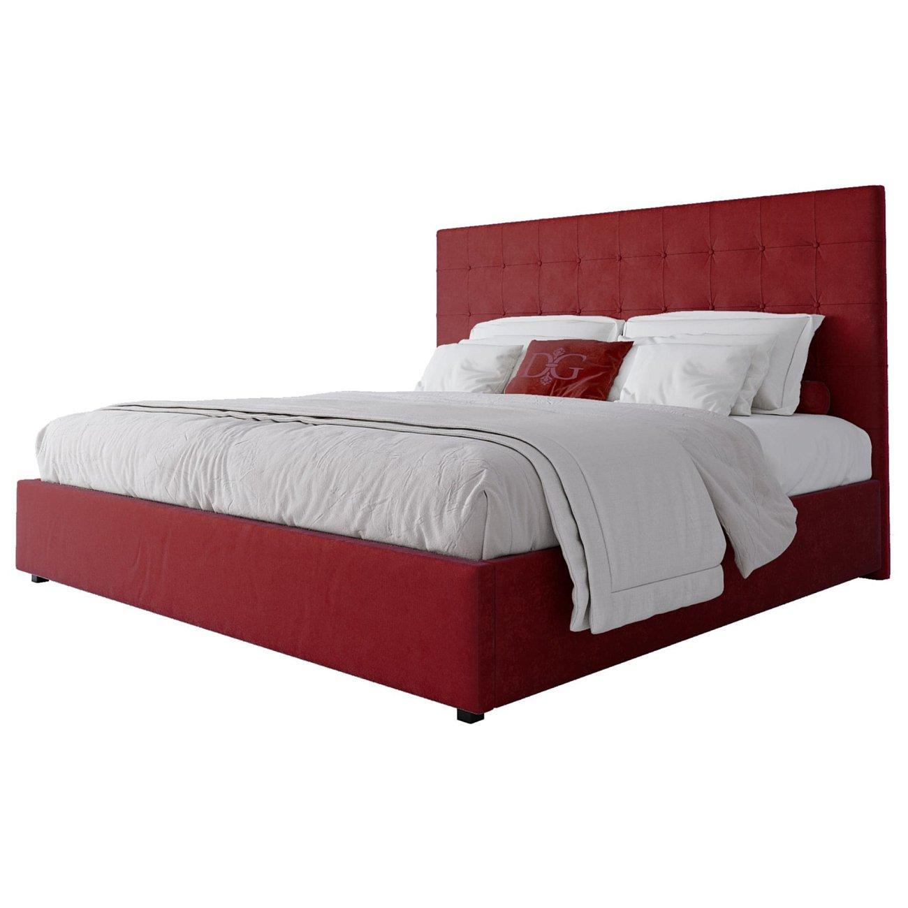 Купить Кровать Royal Black 200х200 Велюр Красный в интернет магазине дизайнерской мебели и аксессуаров для дома и дачи
