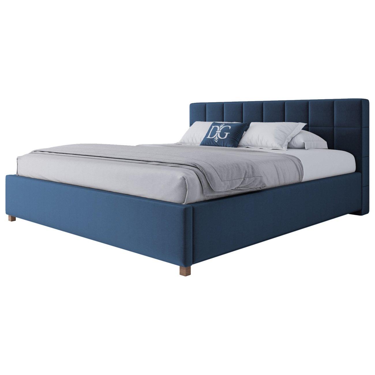 Купить Кровать Wales 180х200 Велюр Морская волна в интернет магазине дизайнерской мебели и аксессуаров для дома и дачи