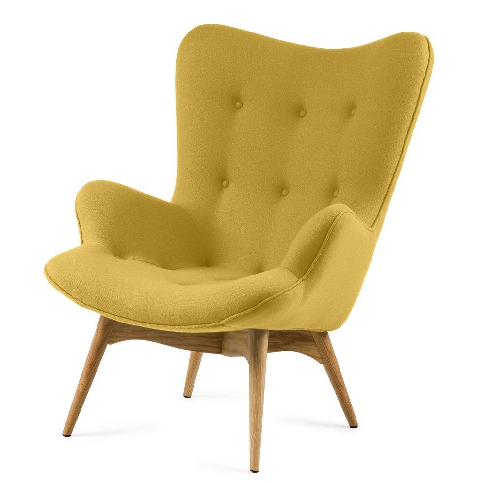 Купить Кресло для отдыха Contour желтое в интернет магазине дизайнерской мебели и аксессуаров для дома и дачи