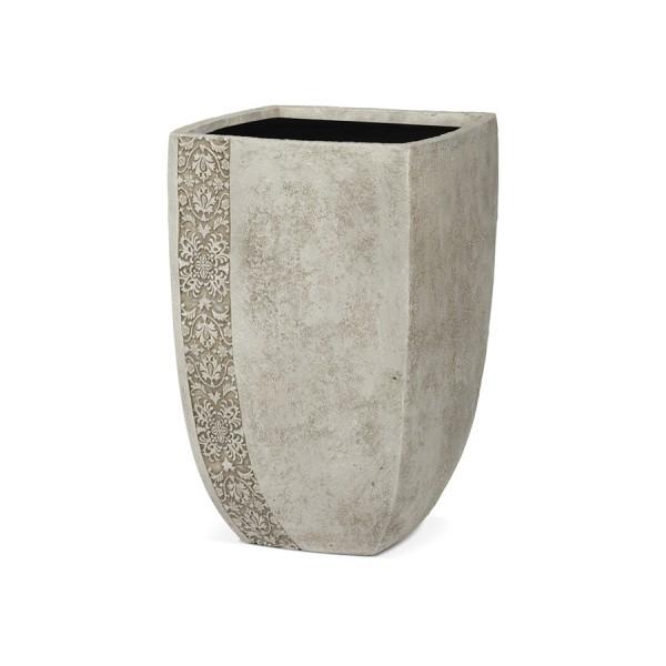Купить ТУЛУЗА, уличная ваза 43*39*64, айвори, с декоративным элементом в интернет магазине дизайнерской мебели и аксессуаров для дома и дачи