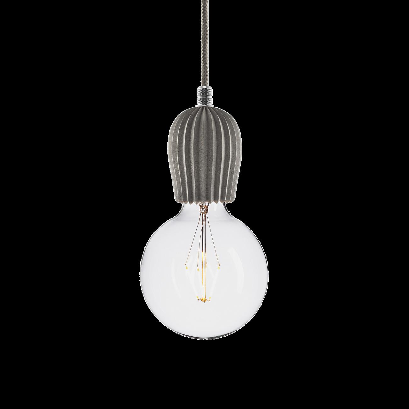 Купить Подвесной светильник BETON RIB GRAY ALUMINUM в интернет магазине дизайнерской мебели и аксессуаров для дома и дачи