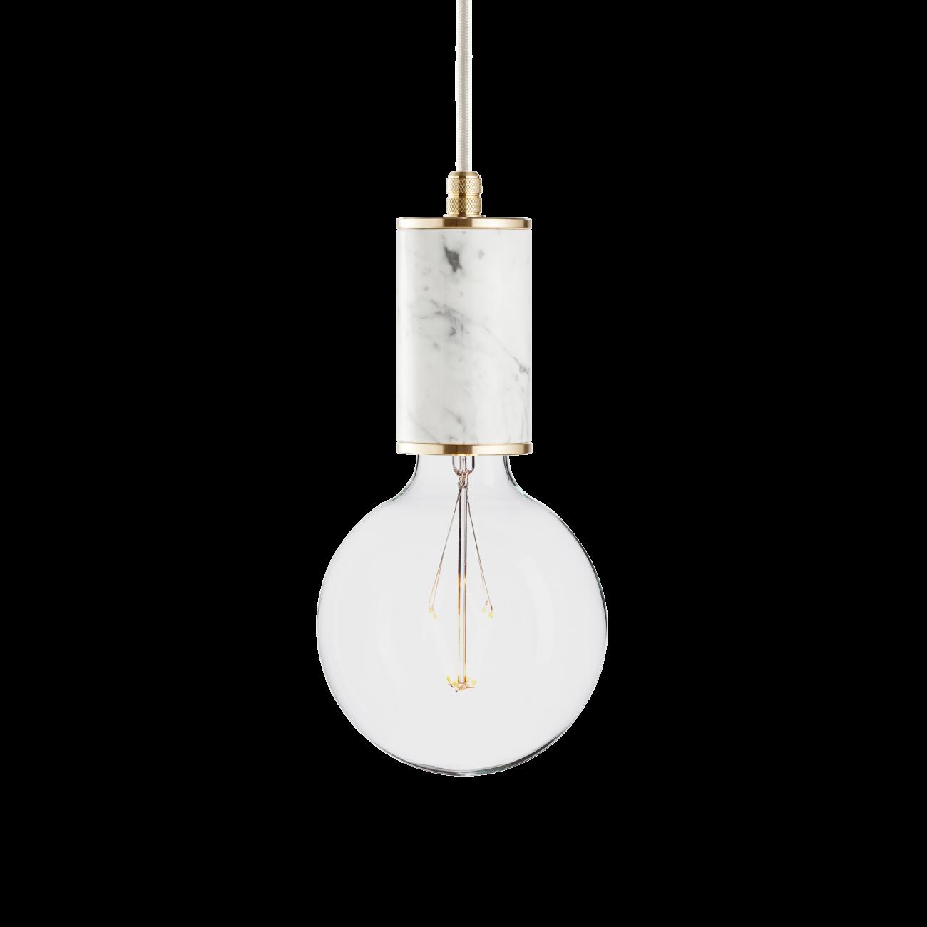 Купить Подвесной светильник MARMOR GLANS BIANCO BRASS в интернет магазине дизайнерской мебели и аксессуаров для дома и дачи