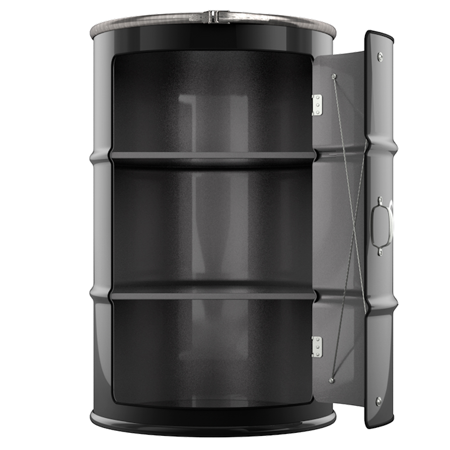 Декоративная Бочка-шкаф Chanel №5 black XL