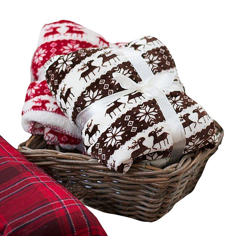 Купить Коричневый плед с оленями в интернет магазине дизайнерской мебели и аксессуаров для дома и дачи