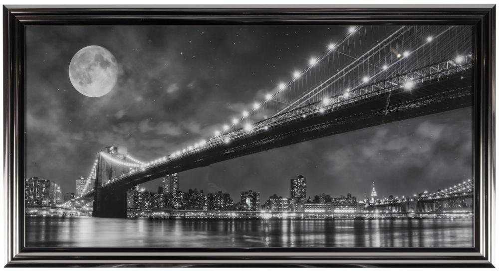 Купить Постер в раме Brooklyn Bridge в интернет магазине дизайнерской мебели и аксессуаров для дома и дачи