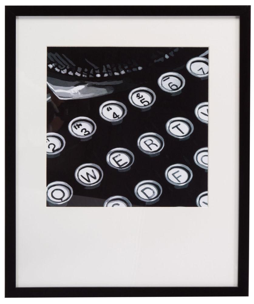 Купить Постер с паспарту в раме Graphic Type в интернет магазине дизайнерской мебели и аксессуаров для дома и дачи