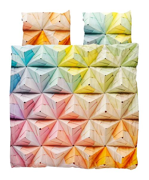 Купить Постельное белье Оригами разноцветный (220*200) в интернет магазине дизайнерской мебели и аксессуаров для дома и дачи