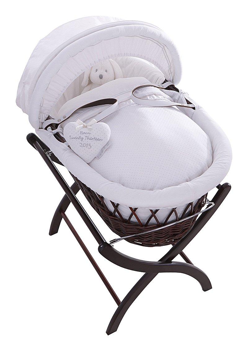 Купить Колыбель-переноска Premium Moses Basket темная, белое белье в интернет магазине дизайнерской мебели и аксессуаров для дома и дачи