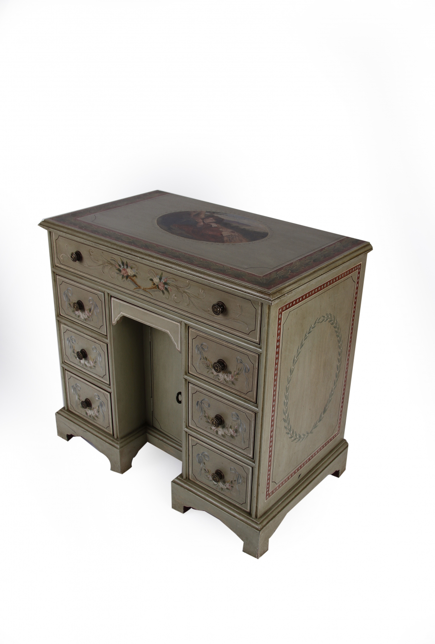 Купить Стол mini Pedestal desk зеленый с рисунком в интернет магазине дизайнерской мебели и аксессуаров для дома и дачи