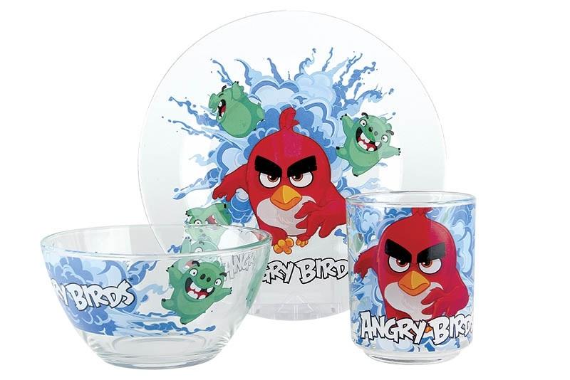Купить Набор Angry Birds Movie Прозрачный в интернет магазине дизайнерской мебели и аксессуаров для дома и дачи