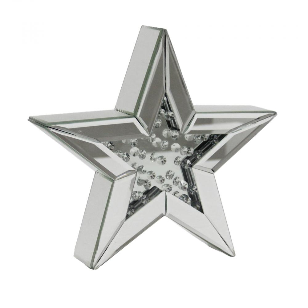 Декоративная зеркальная звезда Маленькая