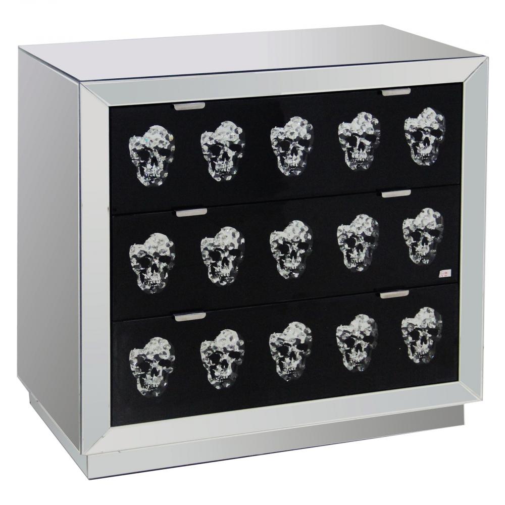 Зеркальный комод с ящиками Safe