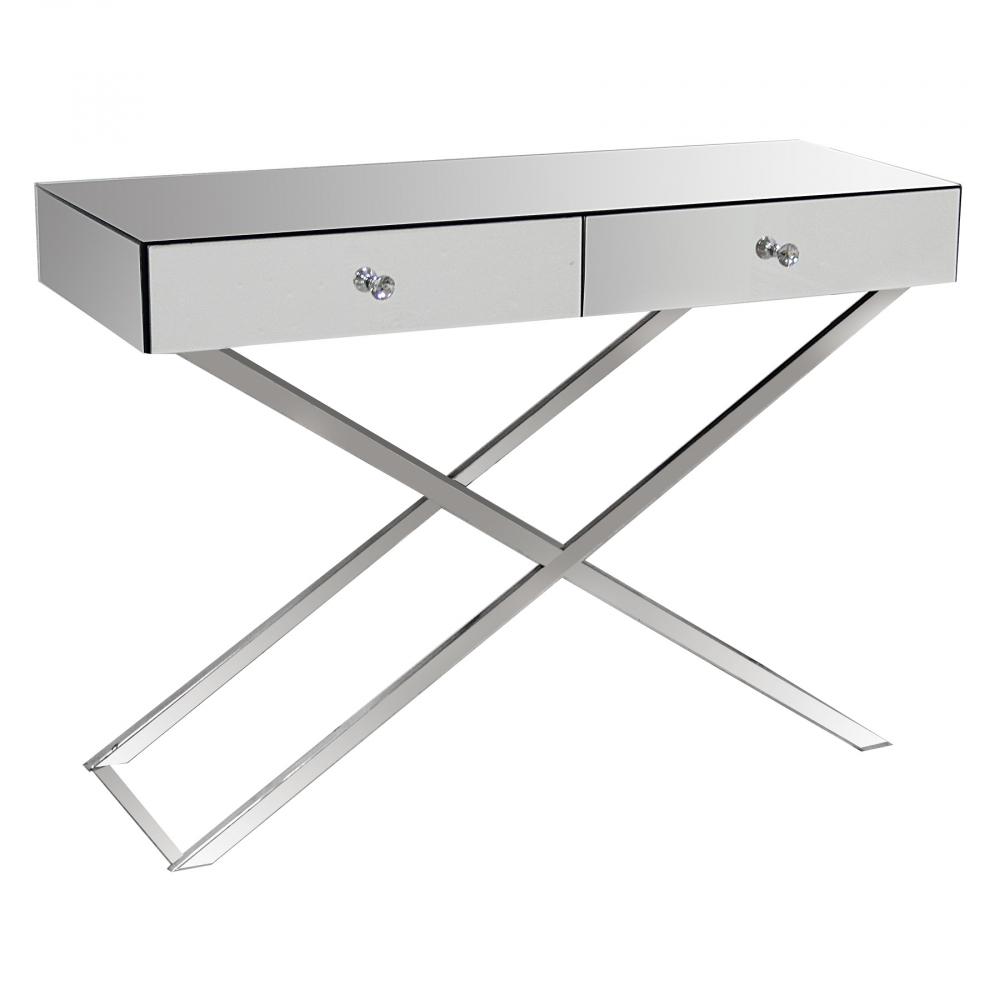 Фото Зеркальный консольный столик с двумя ящиками  Hollywood. Купить с доставкой