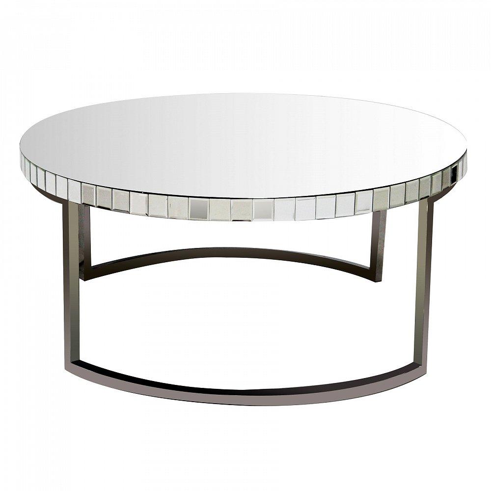 Зеркальный кофейный столик Bolshevico DG-HOME Основание выполнено из нержавеющей стали