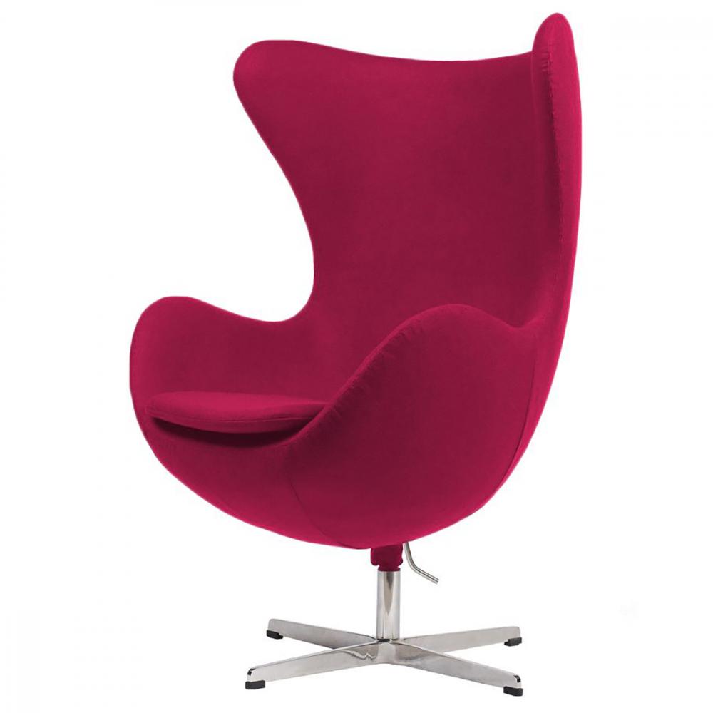 Фото Кресло Egg Chair Малиновая 100% Шерсть. Купить с доставкой