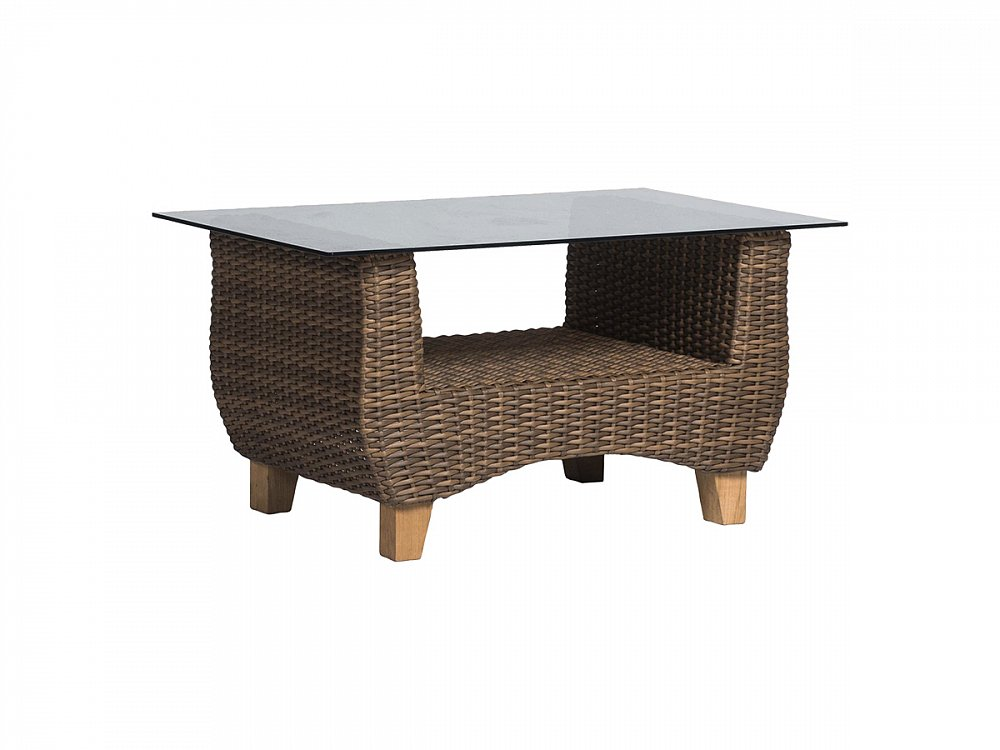 Кофейный столик Нола со стеклянной столешницей Тёмно-Коричневый