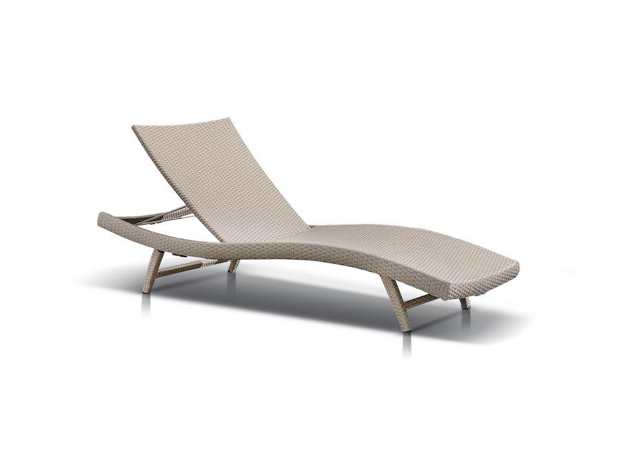 Купить Шезлонг Капри Серо-Жёлтый в интернет магазине дизайнерской мебели и аксессуаров для дома и дачи