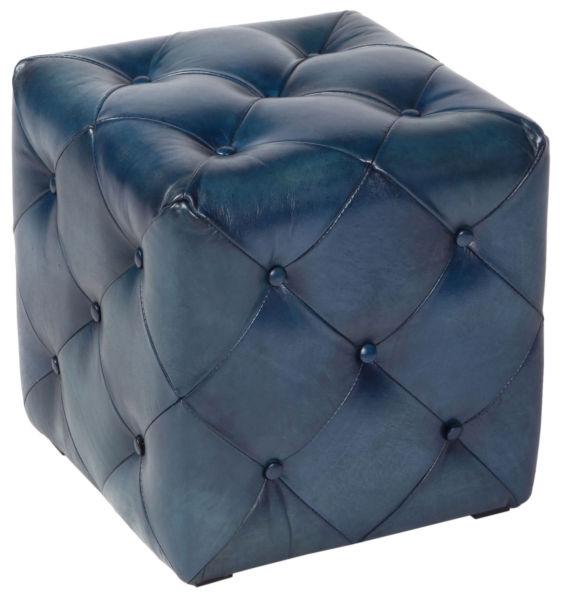 Купить Пуф Hara small antique blue в интернет магазине дизайнерской мебели и аксессуаров для дома и дачи