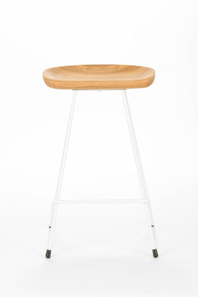 Полубарный стул Henry Hairpin желтый
