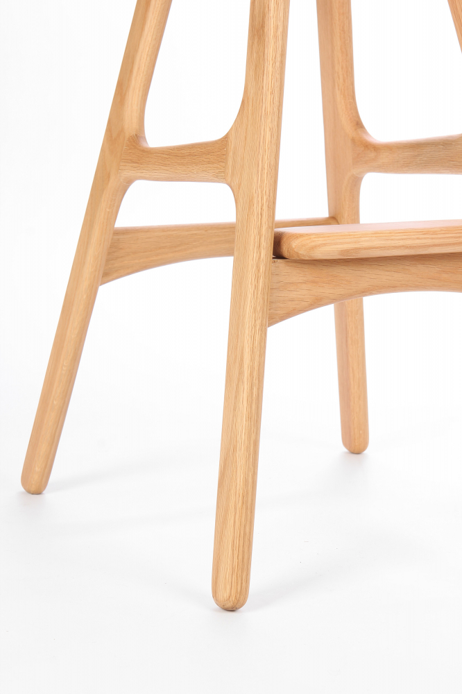 Барный стул Buch Бежевый на светлых ножках
