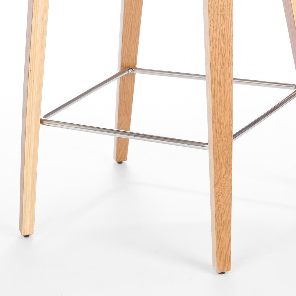 Барный стул Cherner с обивкой серый